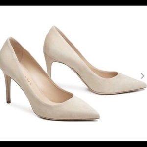 M. GEMI beige suede leather pumps size 5.5